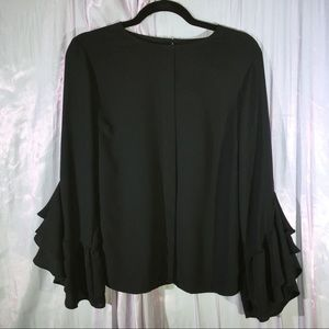 Who What Wear Sheer Black Top